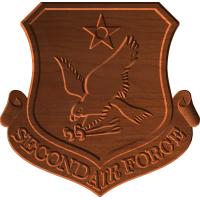 2nd Air Force Logo Pattern