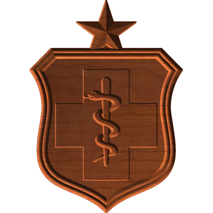 AF Medical Badge With Star Only