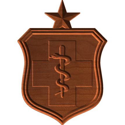 AF Medical Badge With Star Only