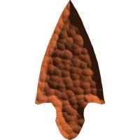 Flint Broad Arrow Head